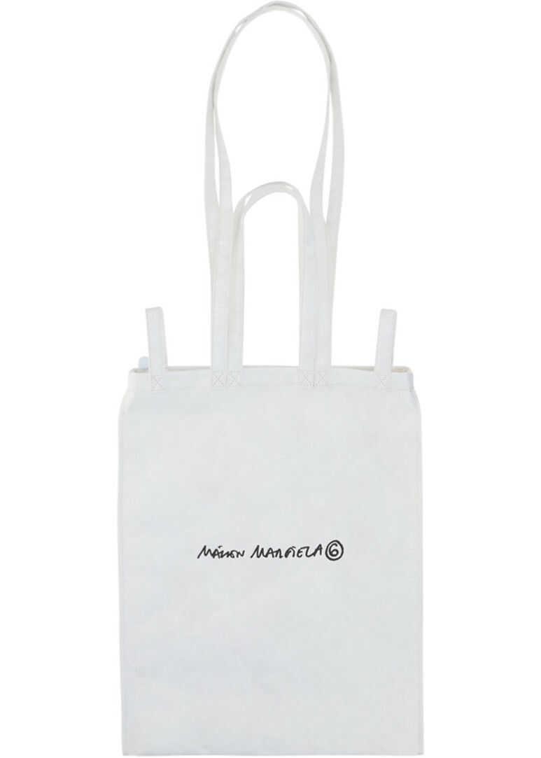 MM6 Maison Margiela Maison Margiela Tote Bag S54WC0058P4145 OFF WHITE imagine b-mall.ro