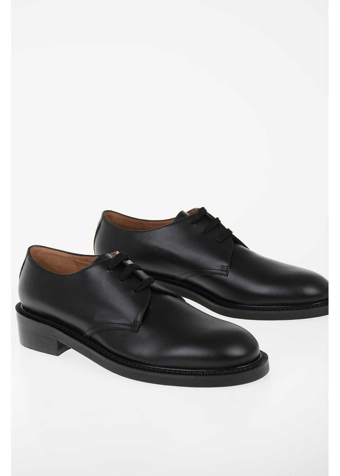 Marni Brushed Leather Derby BLACK imagine b-mall.ro
