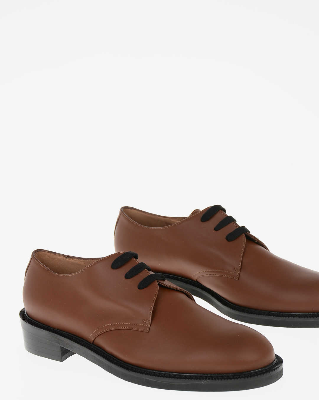 Marni Brushed Leather Derby BROWN imagine b-mall.ro