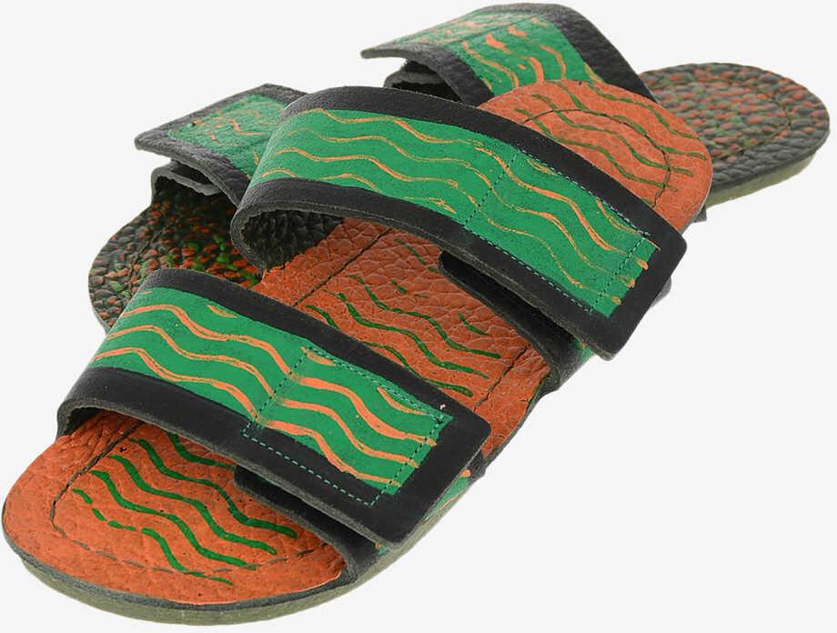 Marni leather printed Slippers MULTICOLOR imagine b-mall.ro