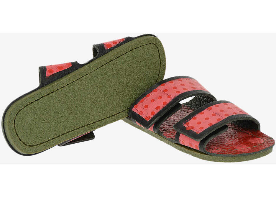 Marni leather Slippers with polka dots MULTICOLOR imagine b-mall.ro