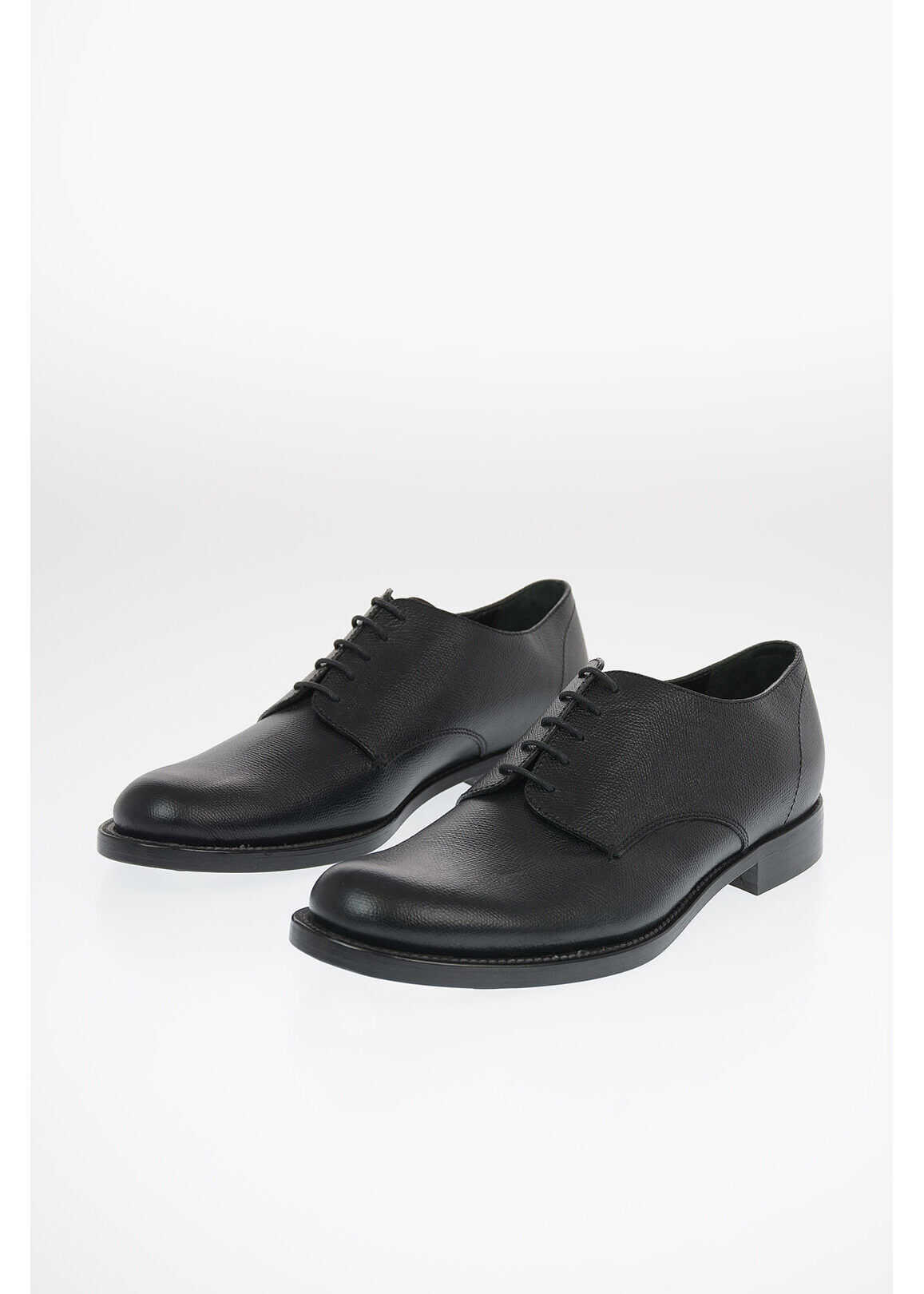 Marni leather Derby shoes BLACK imagine b-mall.ro