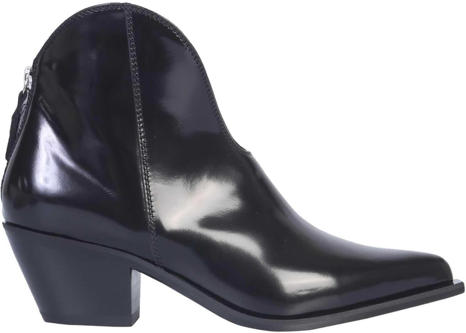 MSGM Texan Boot 2741MDS4581_23299 BLACK imagine b-mall.ro