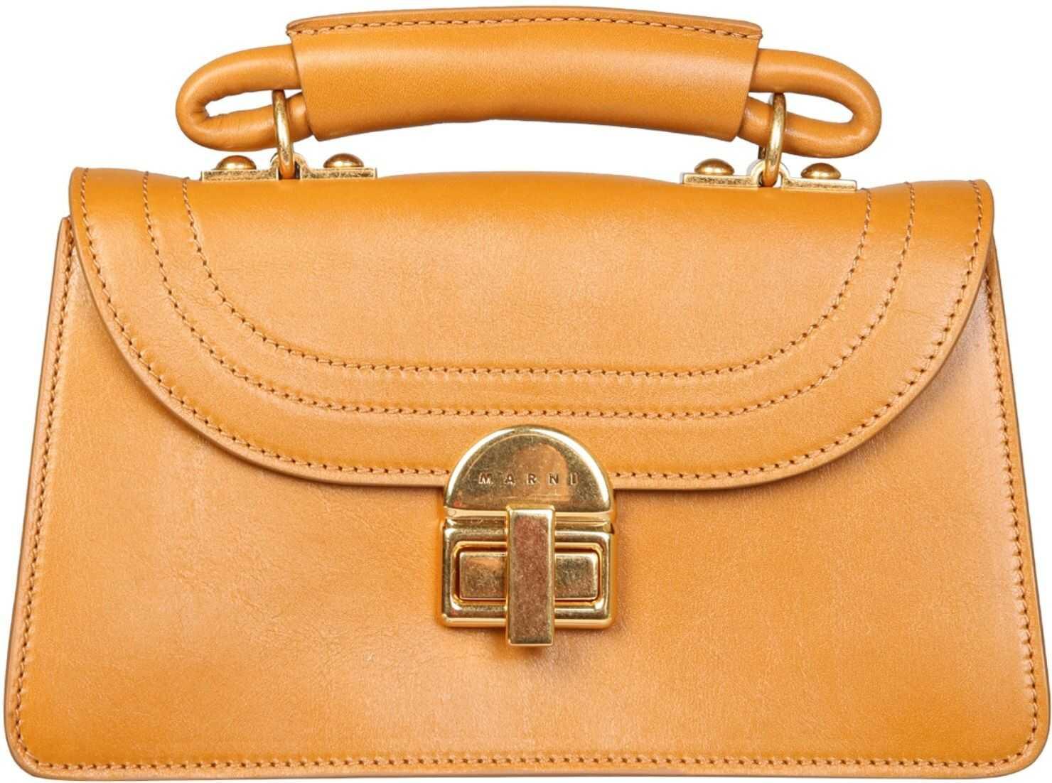 "Marni Small ""Juliette"" Shoulder Bag BMMP0043Y1_P343000W74 ORANGE imagine b-mall.ro"