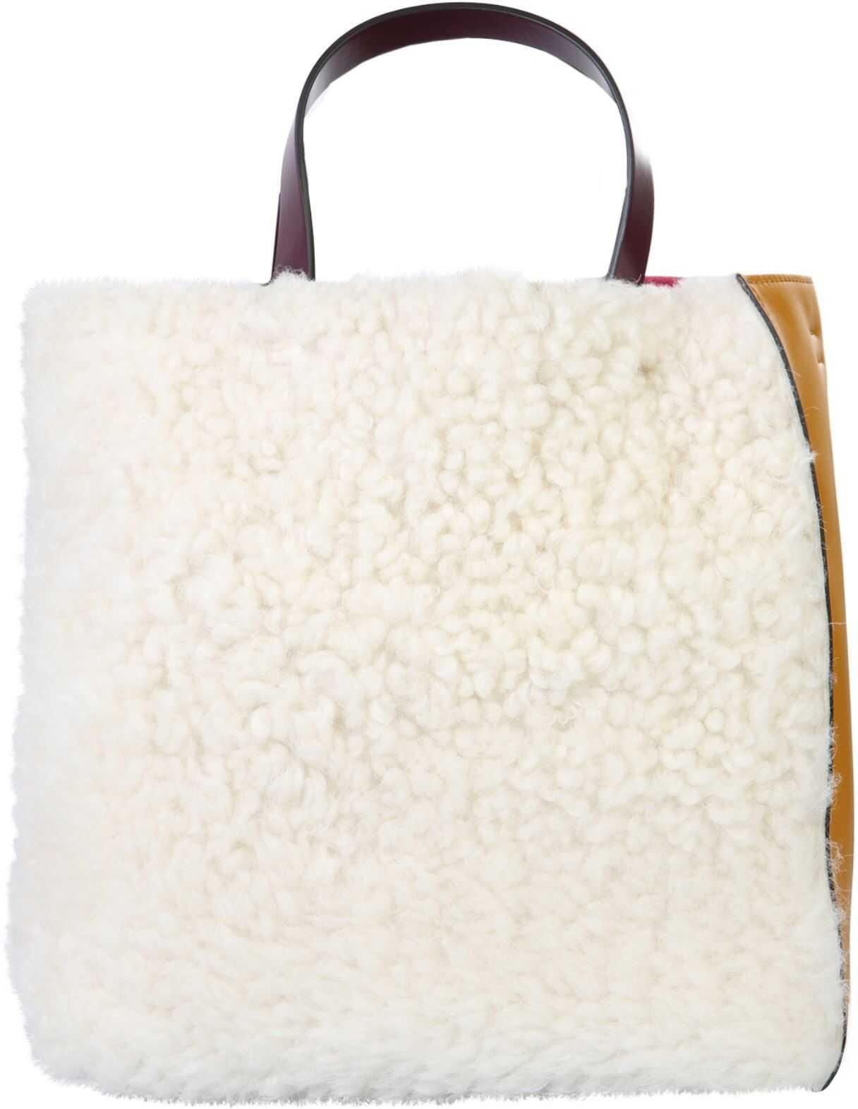 Marni Soft Museum Tote Bag SHMP0018Q4_P3622Z2I81 WHITE imagine b-mall.ro