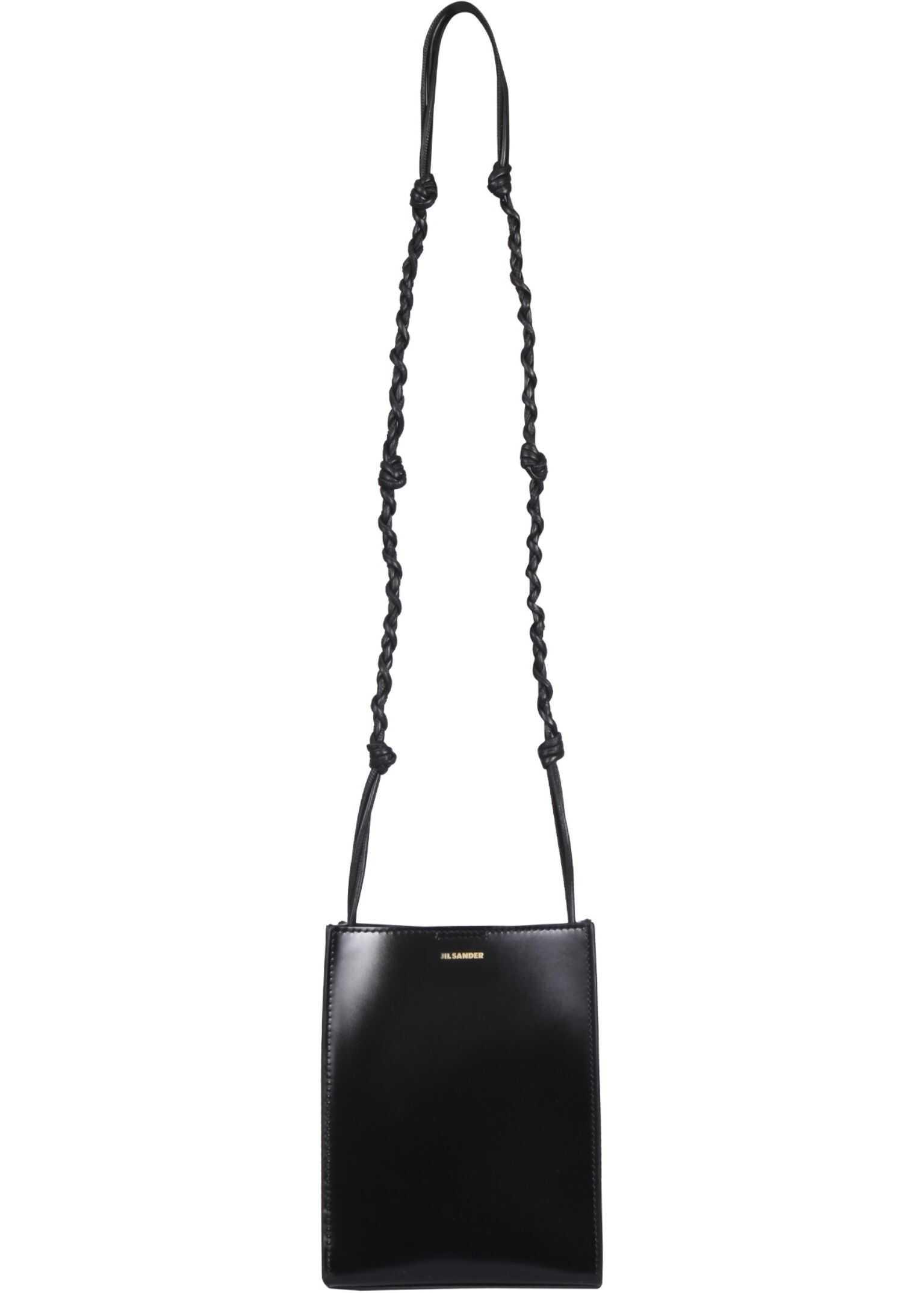 Jil Sander Small Tangle Bag JSWS853173_WSB69158N001 BLACK imagine b-mall.ro
