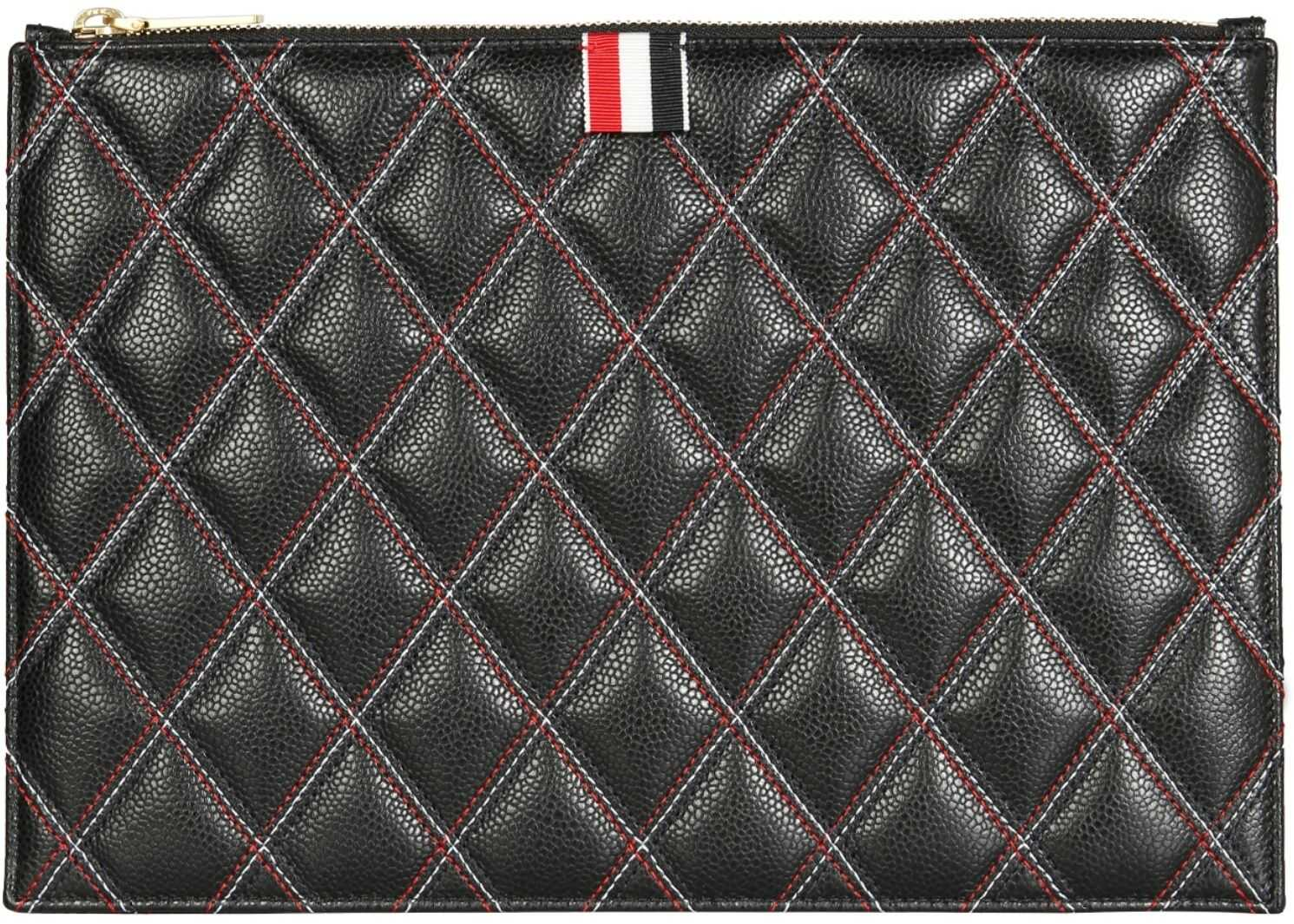 Thom Browne Small Document Holder With Logo FAC080A_06560001 BLACK imagine b-mall.ro