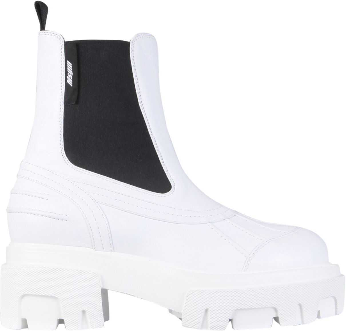 MSGM Leather Boots 3042MDS631_11401 WHITE imagine b-mall.ro