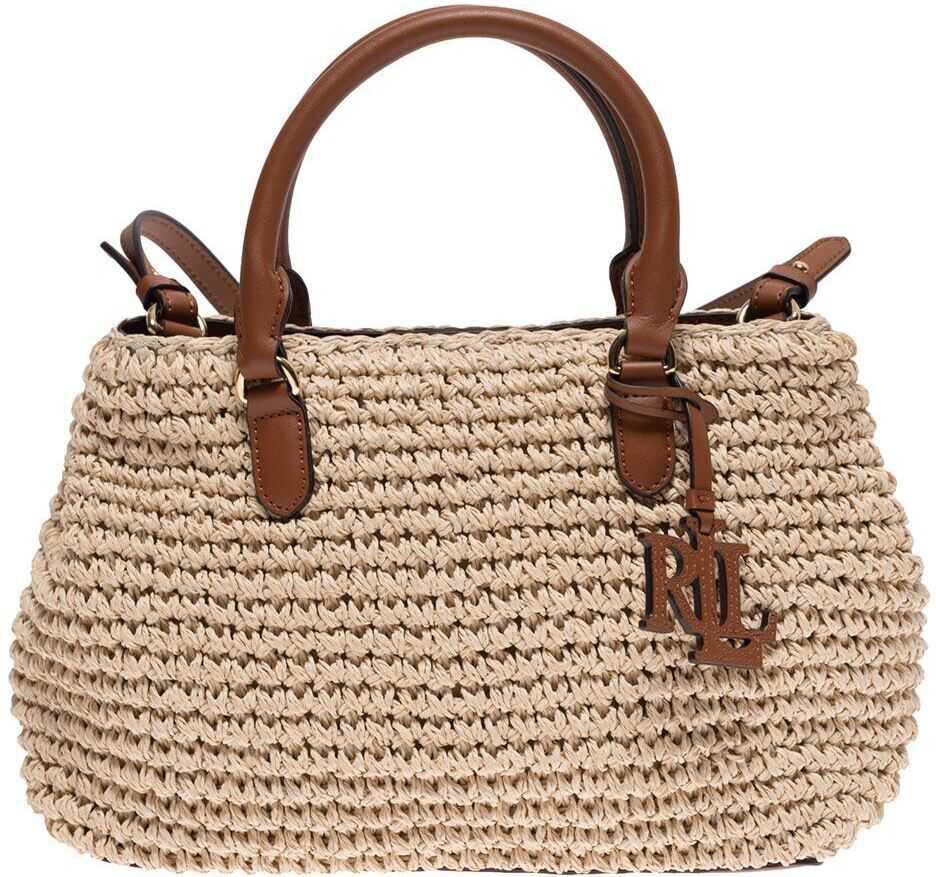 Ralph Lauren Marcy Ii Handbag In Beige 431826568001 Beige imagine b-mall.ro