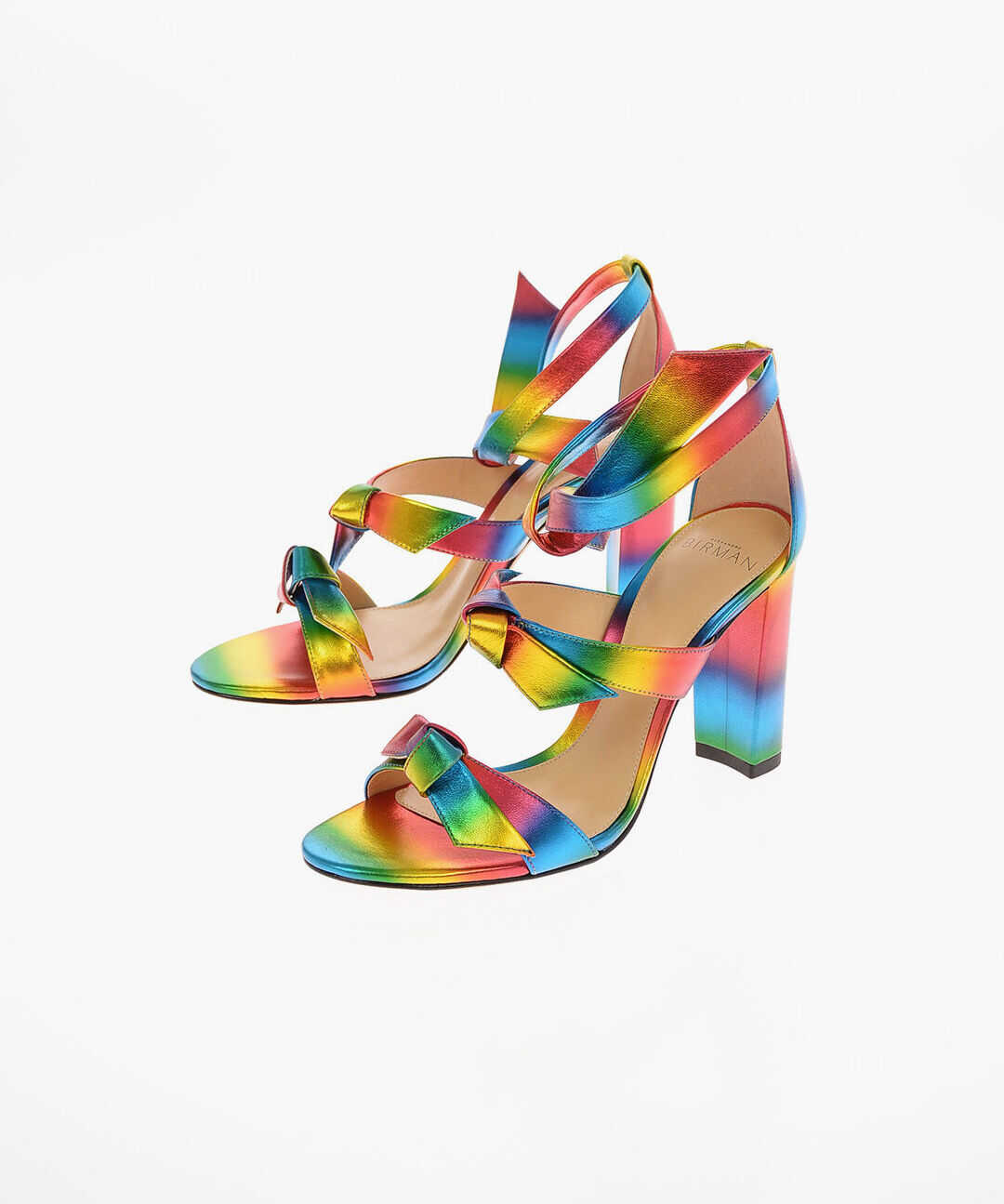 Alexandre Birman 9cm leather GIANNA BLOCK 90 Ankle-strap sandals MULTICOLOR imagine b-mall.ro