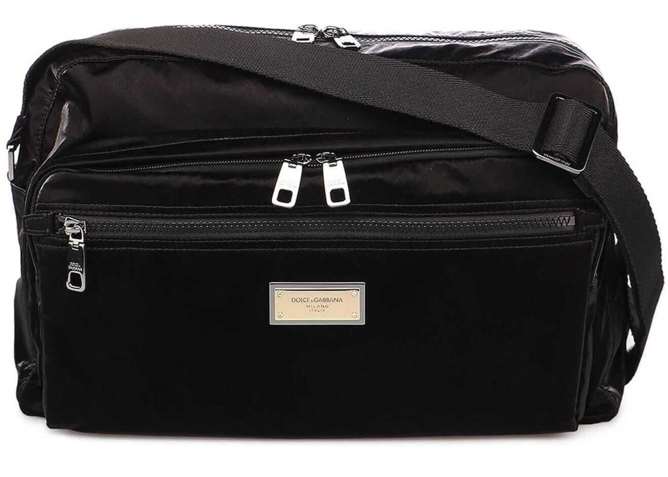 Dolce & Gabbana Messenger Bag Sicilia In Black BM1955AO24380999 Black imagine b-mall.ro