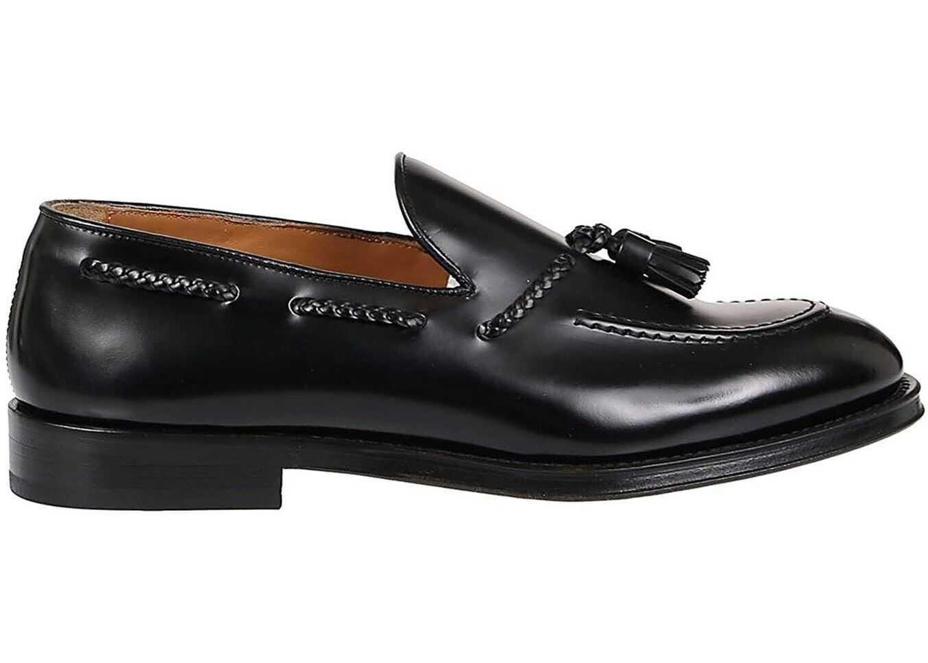 Doucal's Loafers With Tassels In Black DU1020ORVIUY007NN0 Black imagine b-mall.ro