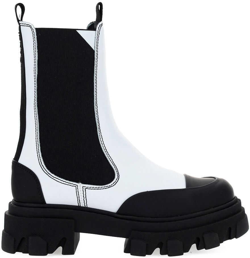 Ganni Boots S1416 EGRET imagine b-mall.ro