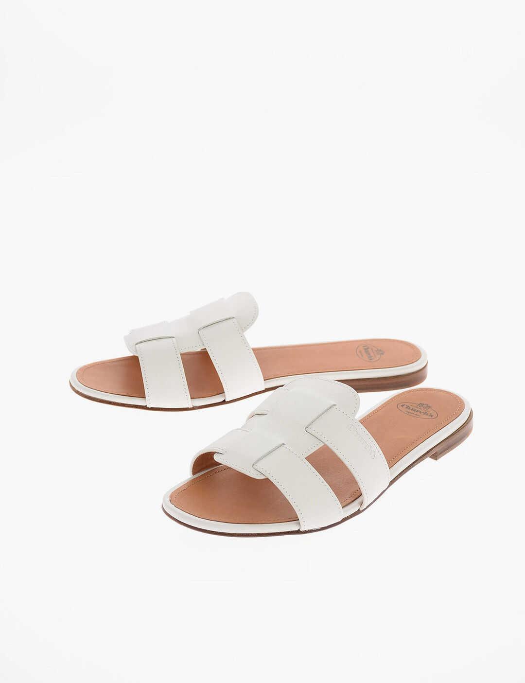 Church's leather DEE DEE Slides WHITE imagine b-mall.ro