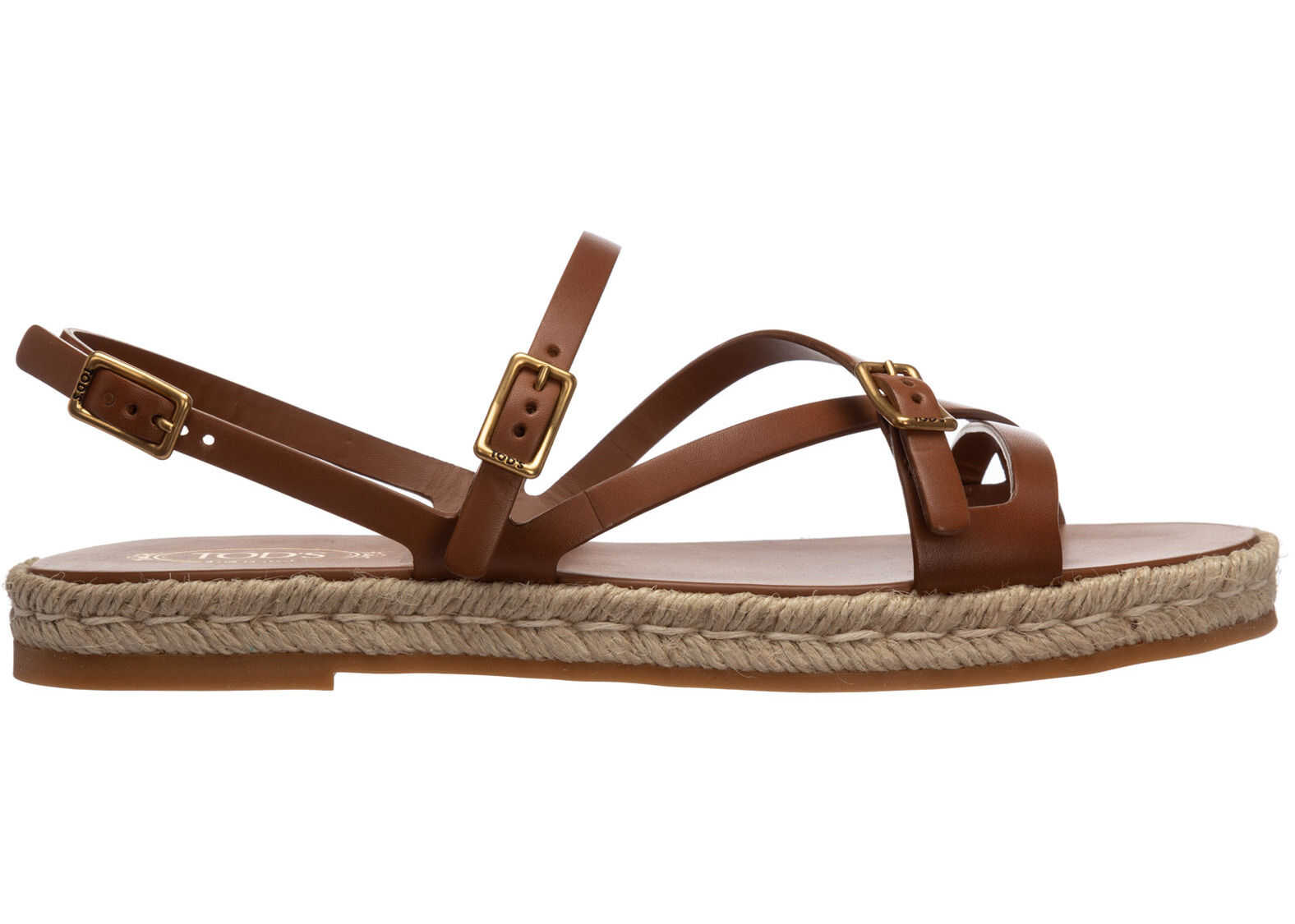 TOD'S Leather Sandals XXW09F0EI50D90S010 Brown imagine b-mall.ro