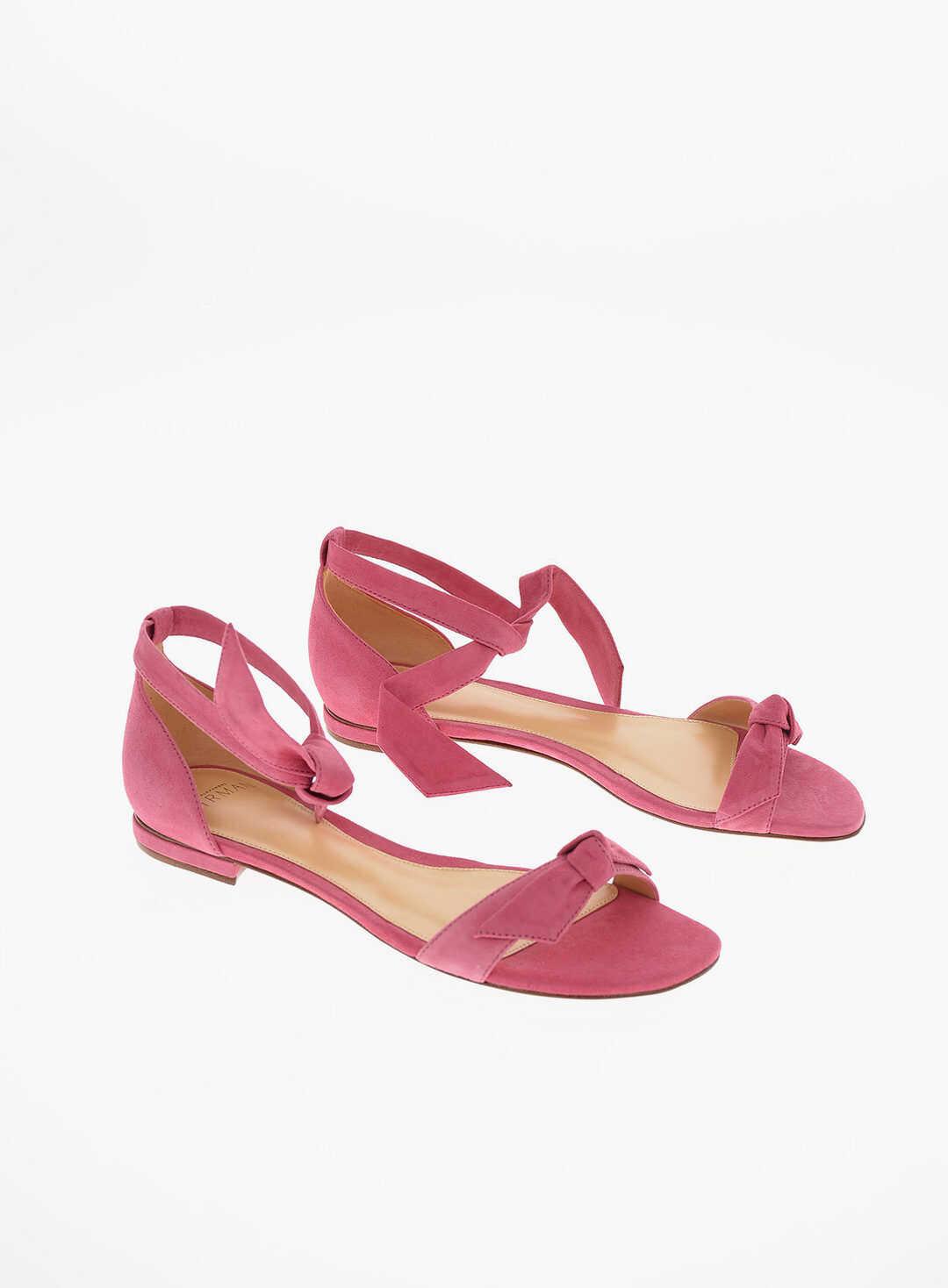 Alexandre Birman leather Suede NEW CLARITA Sandals PINK imagine b-mall.ro