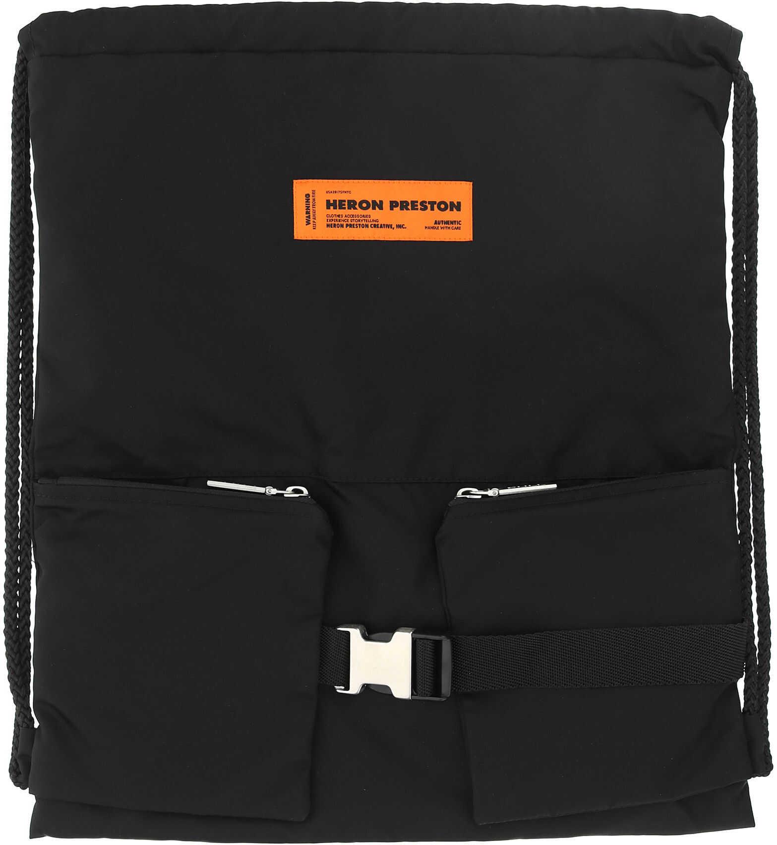 Heron Preston Backpack HWNB007R21FAB001 BLACK NO COLOR imagine b-mall.ro