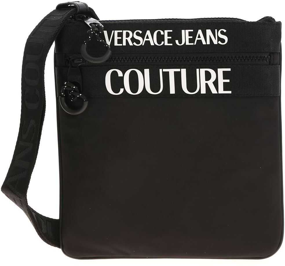 Versace Jeans Couture Branded Shoulder Bag In Black E1YZAB6A 71593 899 Black imagine b-mall.ro