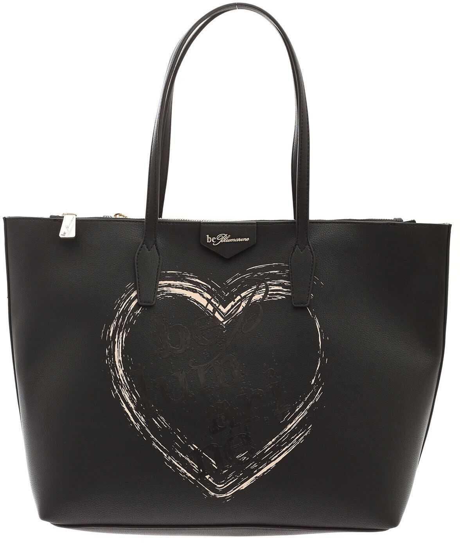 Be Blumarine Cameron Shopper Bag In Black E17ZBB01 71709 N03 Black imagine b-mall.ro