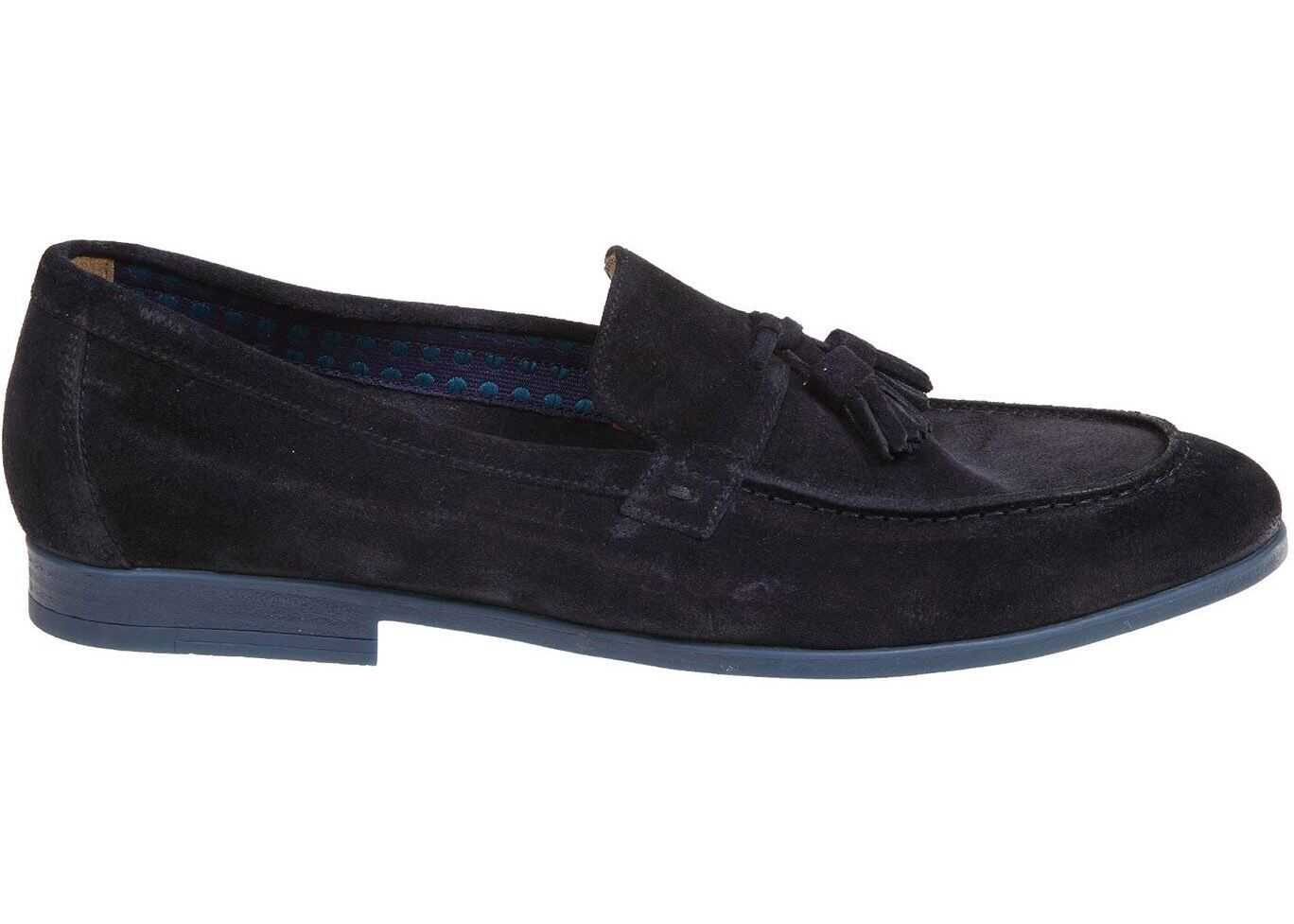 Doucal's Suede Loafers In Blue DU2823NWTOUZ067BB00 Blue imagine b-mall.ro