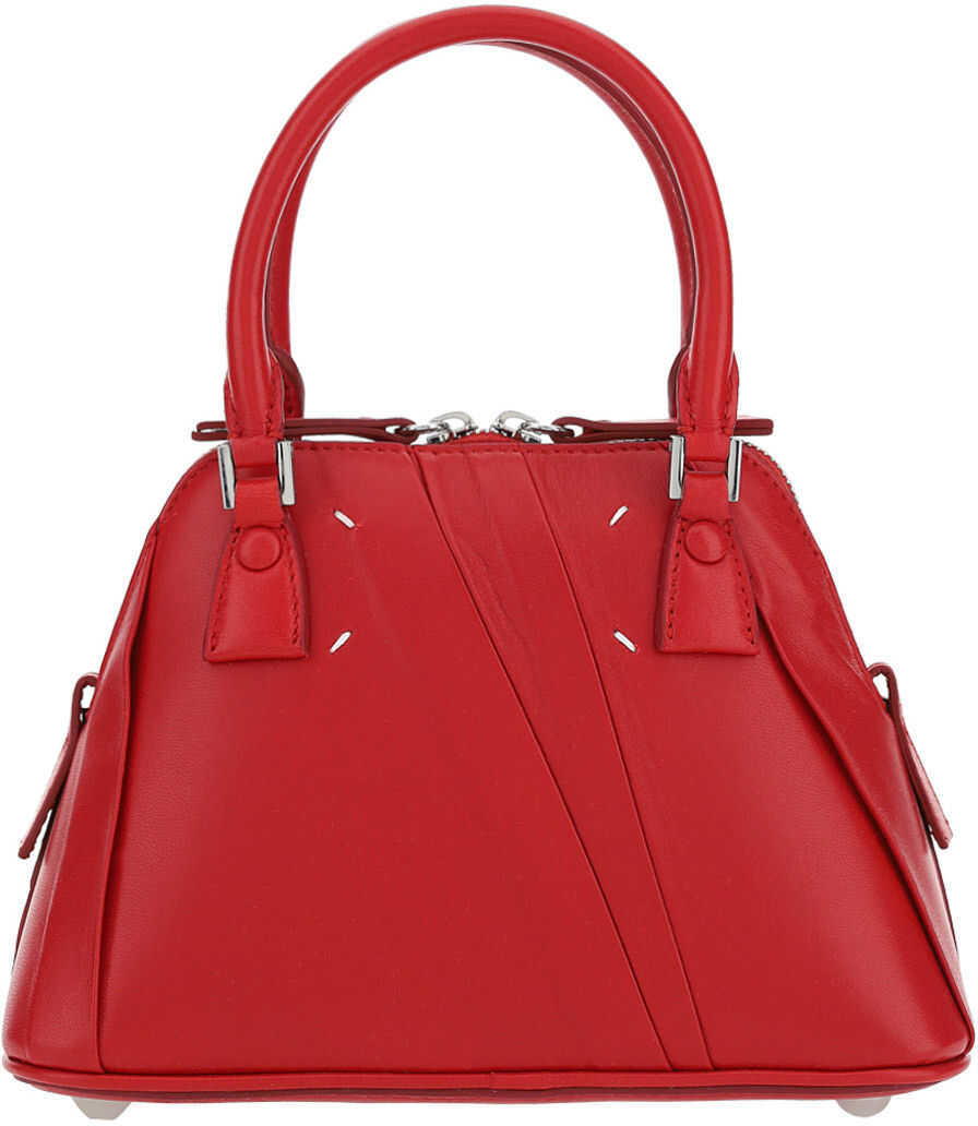 Maison Margiela Micro 5AC Handbag S56WG0081P4177 RED imagine b-mall.ro