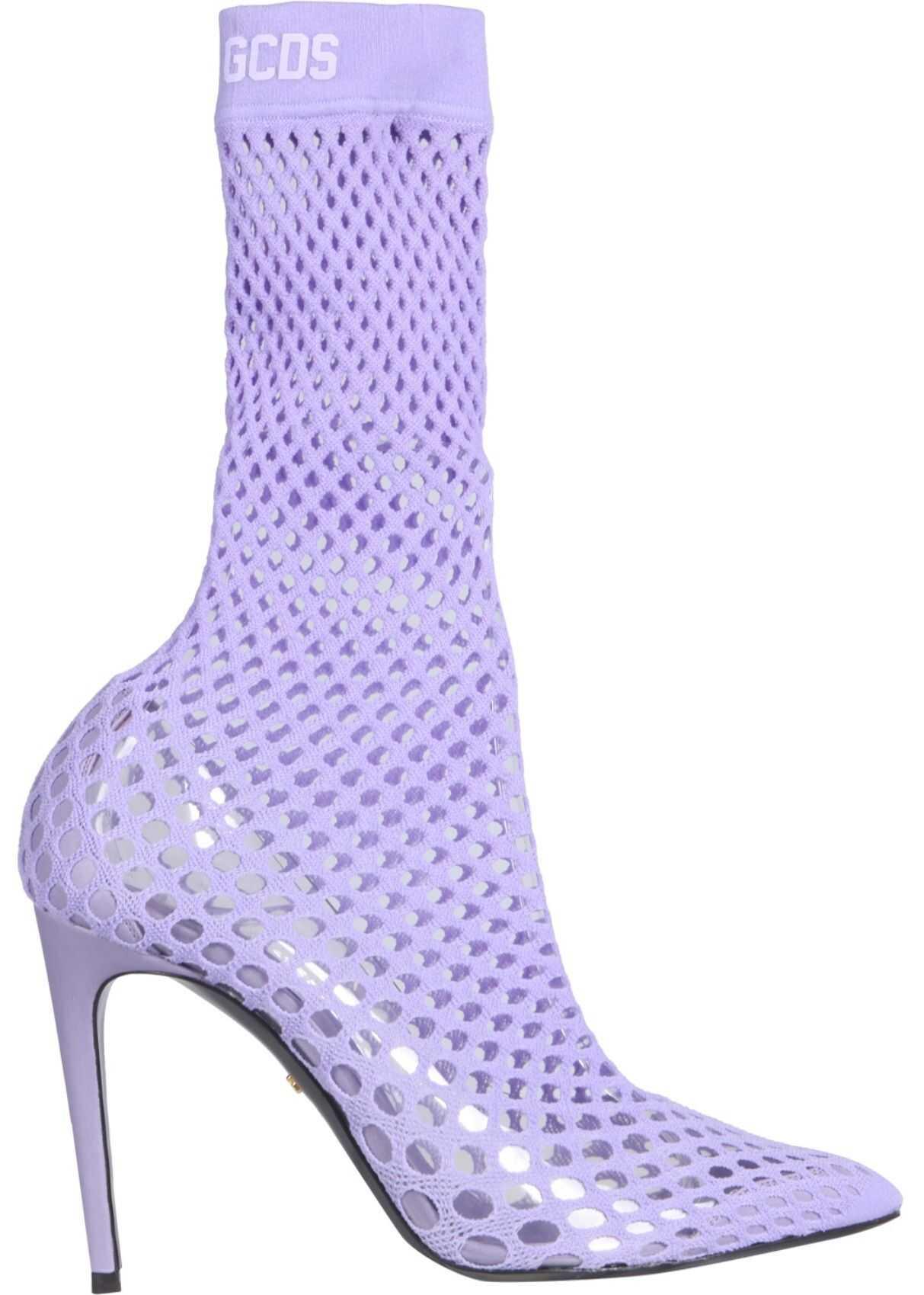 GCDS Sock Boots SS21W010014_52 LILAC imagine b-mall.ro