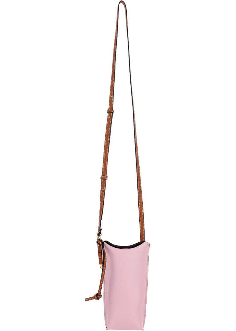 Loewe Gate Pocket Pouch 10930BZ42 SOFT PINK/CORAL imagine b-mall.ro