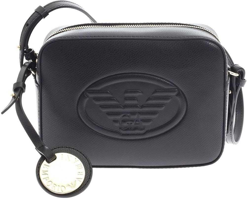 Emporio Armani Logo Shoulder Bag In Black Y3B092YH18A80001 Black imagine b-mall.ro
