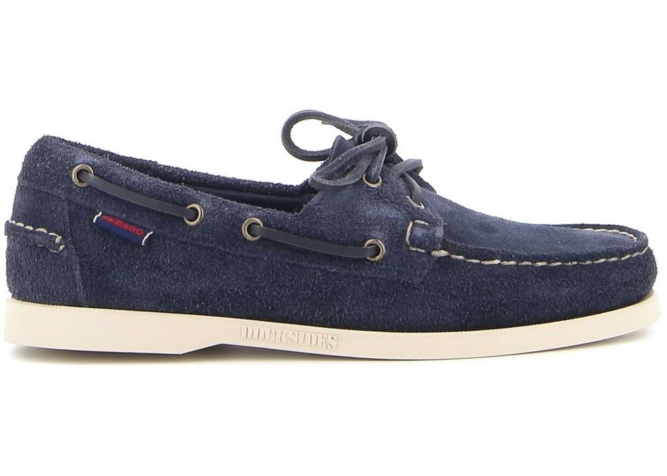 Sebago Portland Flesh Out Loafers In Blue 7111PTW908 Blue imagine b-mall.ro