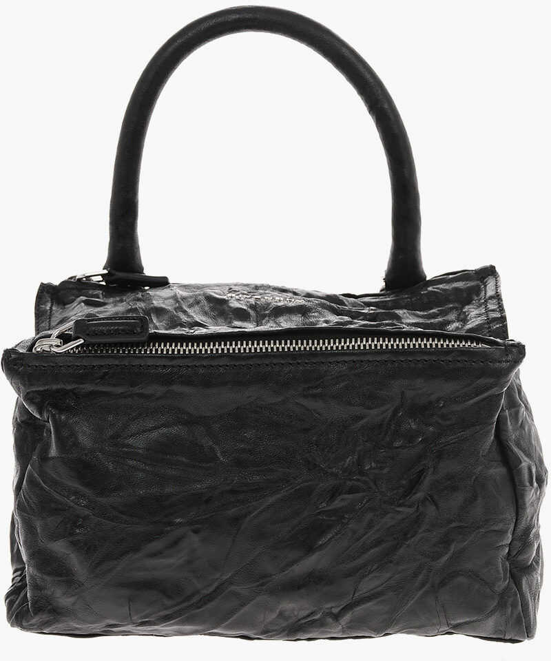 Givenchy Leather PANDORA Bowler bag with Removable Shoulder Strap BLACK imagine b-mall.ro
