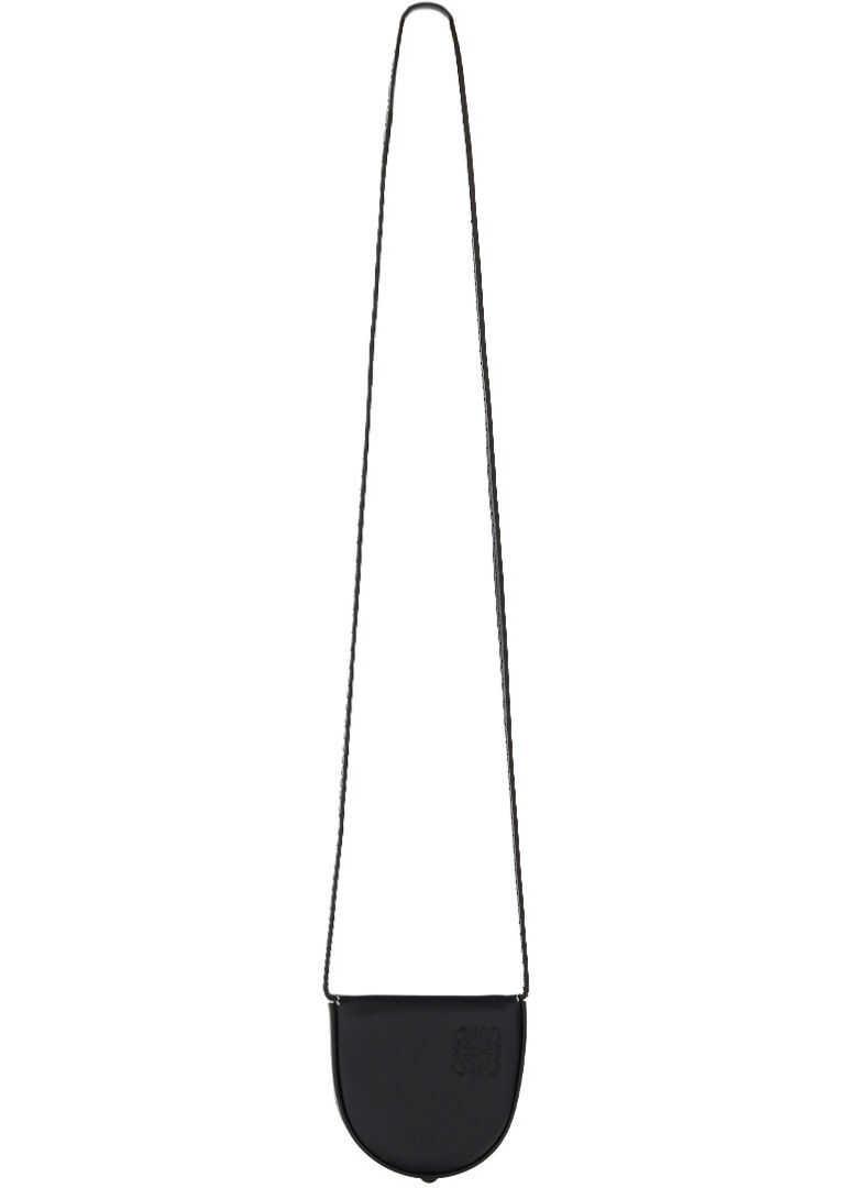 Loewe Mini Heel Shoulder Pouch 10954T15 BLACK imagine b-mall.ro