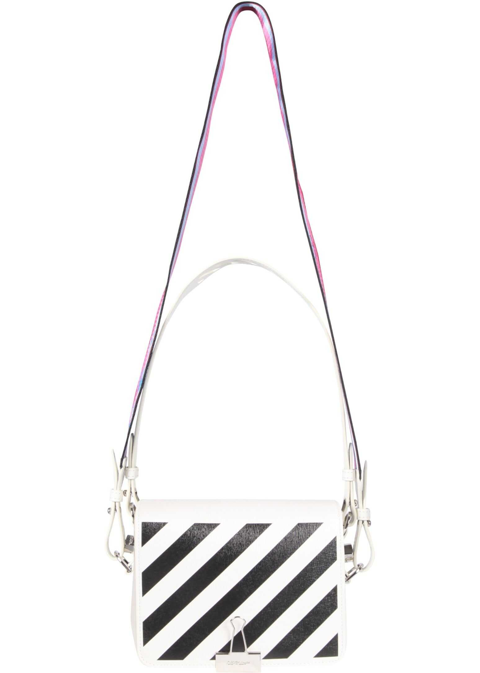 Off-White Bag With Diagonal Stripes Print OWNN018_S21LEA0010110 WHITE imagine b-mall.ro