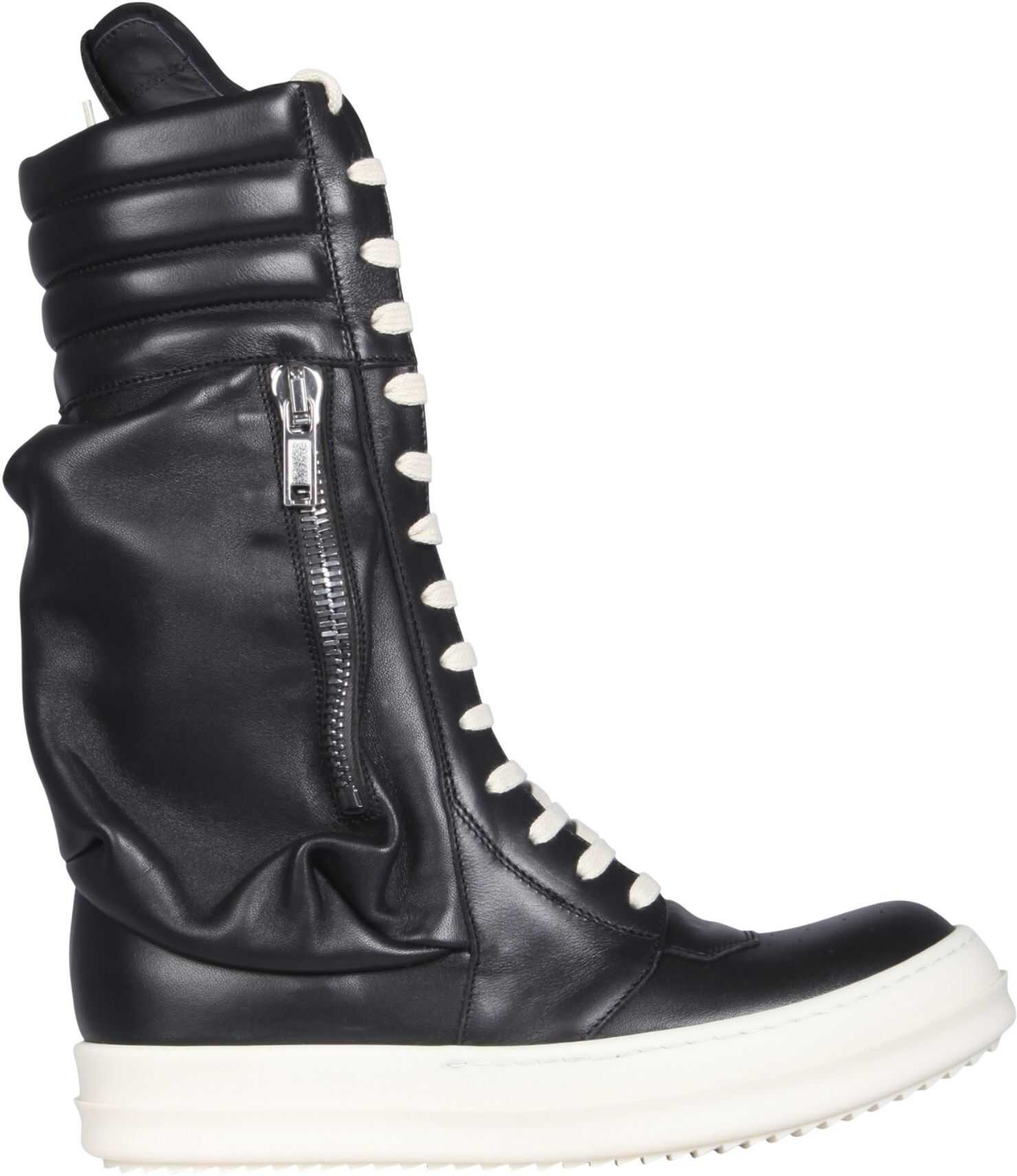 Rick Owens Cargo Basketball Boots RO21S3899_LPO911 BLACK imagine b-mall.ro