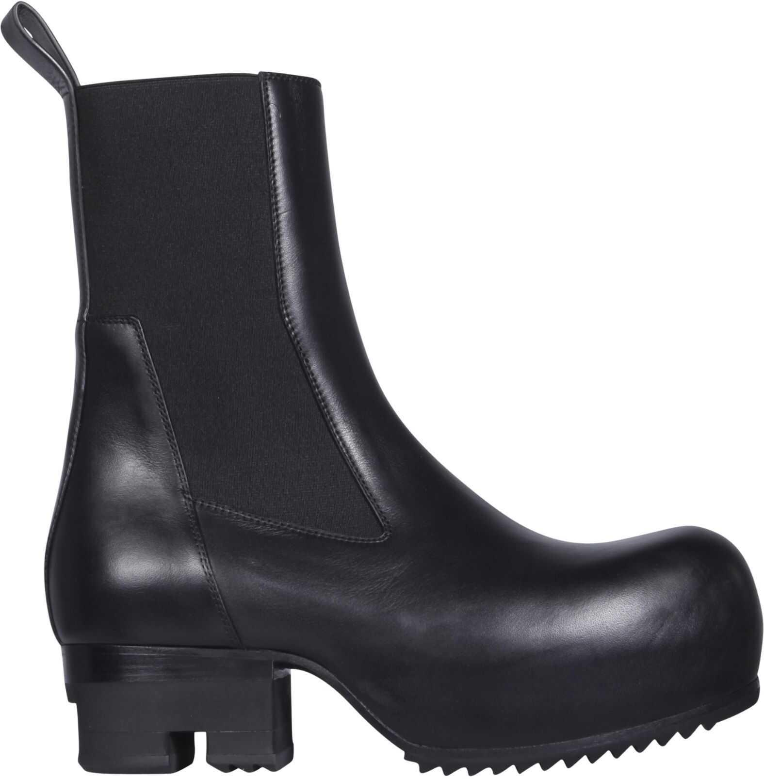 Rick Owens Leather Boots RO21S3824_LBO09 BLACK imagine b-mall.ro