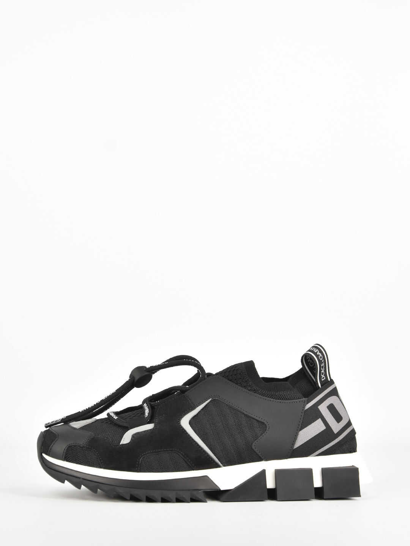 Dolce & Gabbana Sorrento Trekking Sneakers CS1718 AA096 Black imagine b-mall.ro