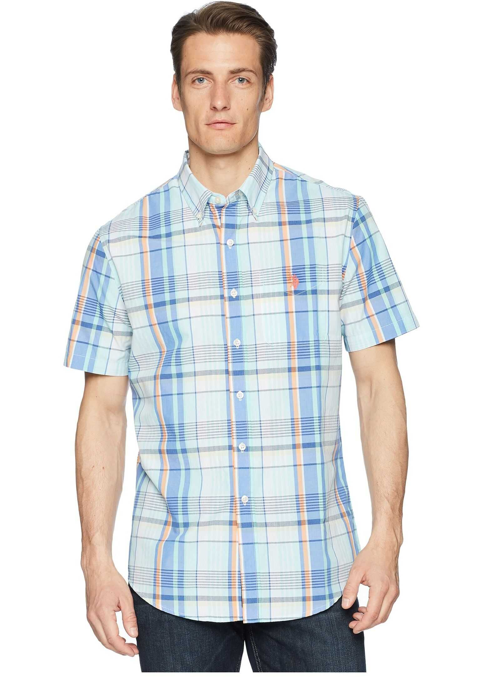 U.S. POLO ASSN. Plaid Woven Shirt Blue Sail