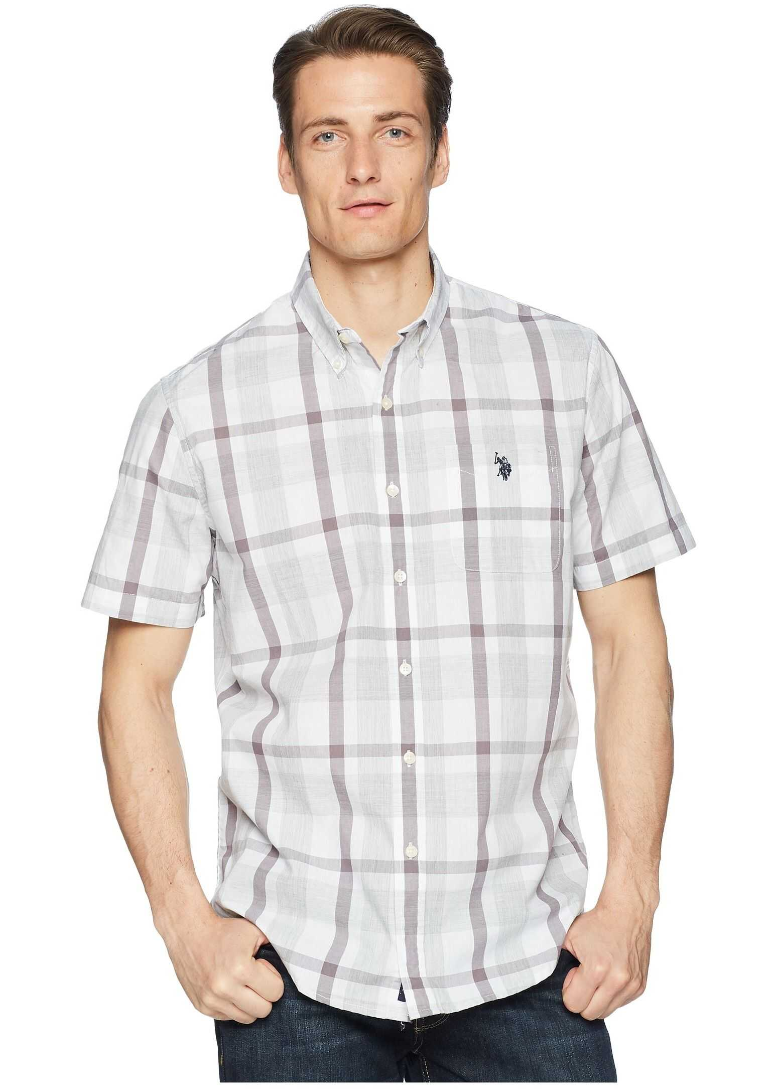 U.S. POLO ASSN. Plaid Woven Shirt Vapor Grey