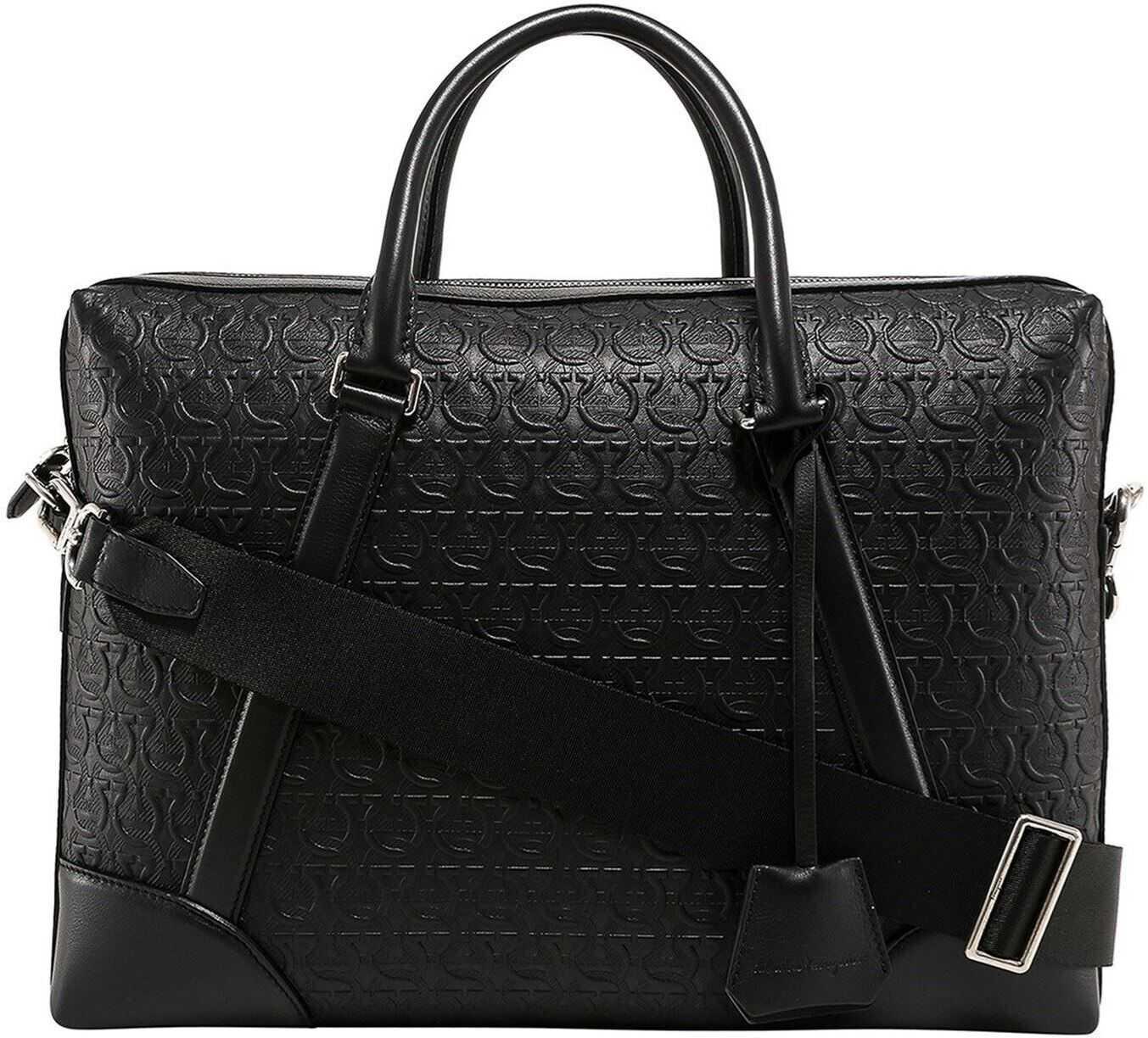 Salvatore Ferragamo Briefcase 723756 Black imagine b-mall.ro