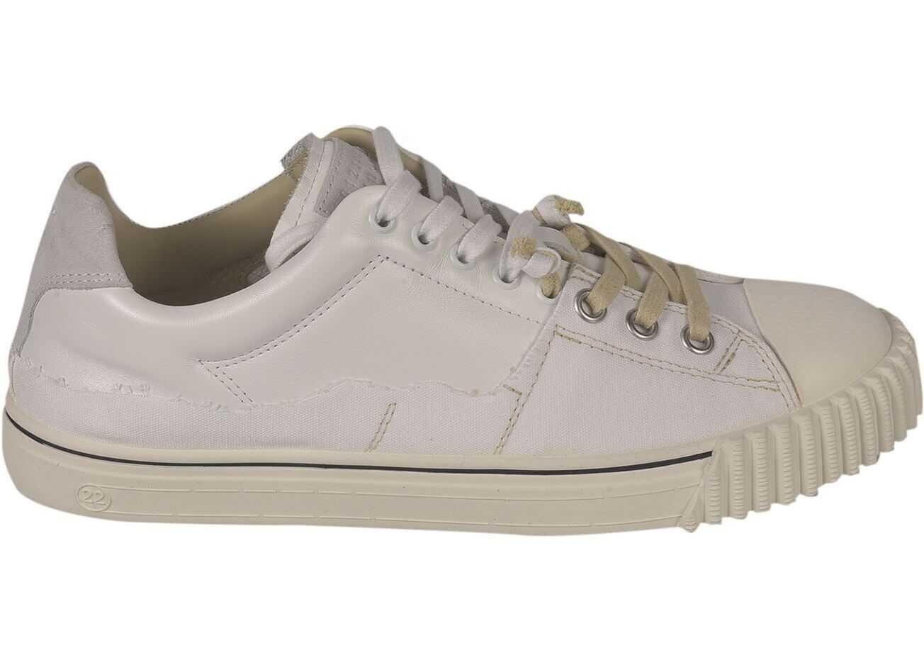 Maison Margiela Evolution Sneakers In White S57WS0391P4022H8548 White imagine b-mall.ro