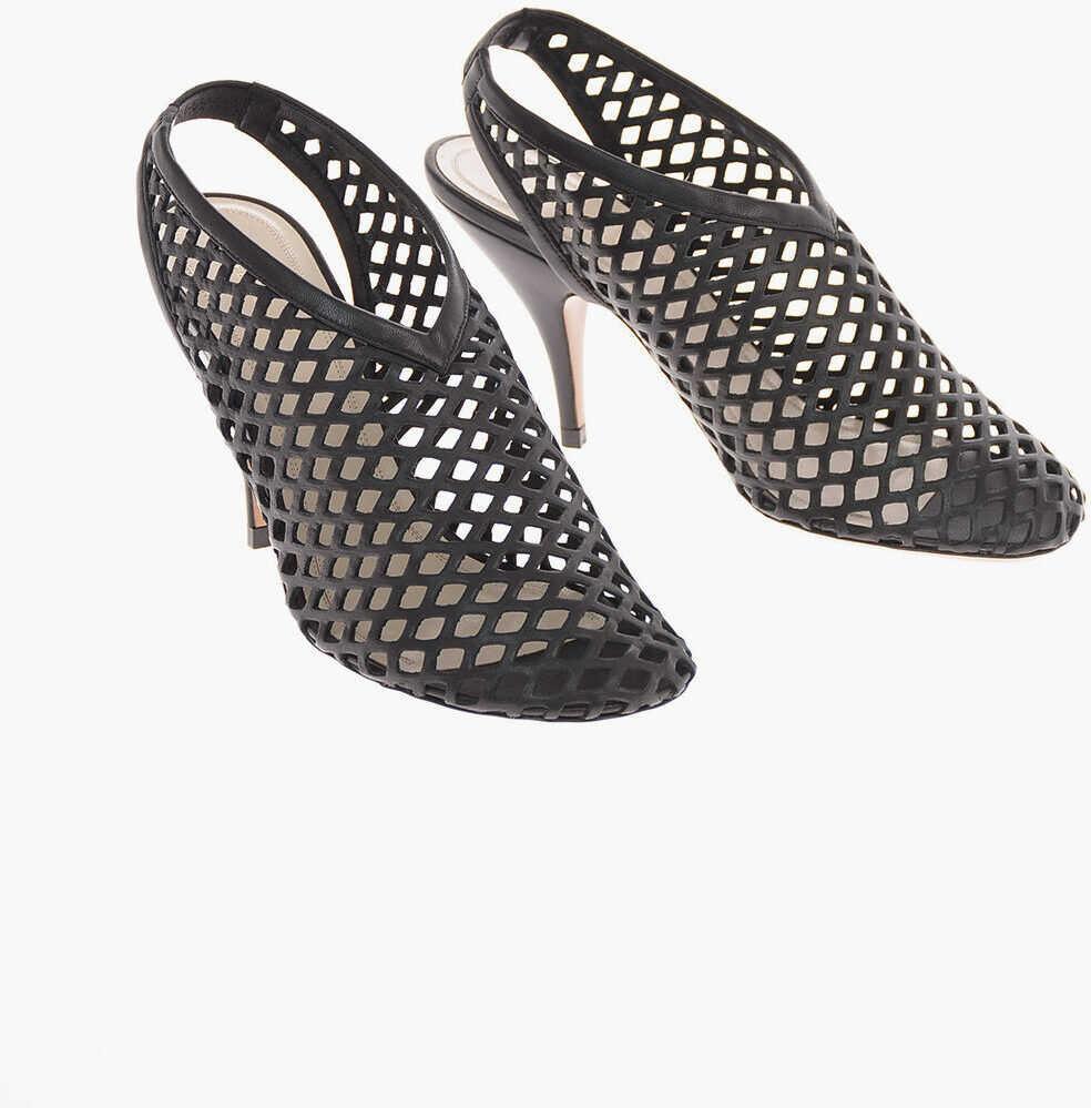 Céline Mesh Soft Leather NIGHTOUT Slingbacks 10 Cm BLACK imagine b-mall.ro