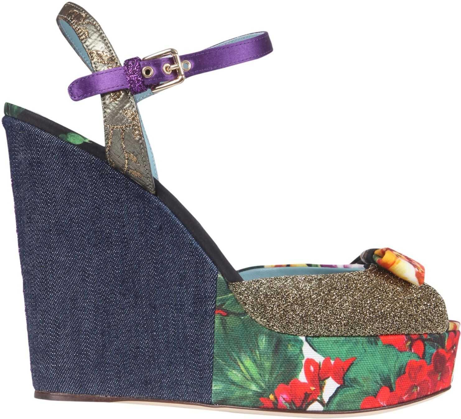 Dolce & Gabbana Wedge Sandals CZ0259_AO66180995 MULTICOLOUR imagine b-mall.ro