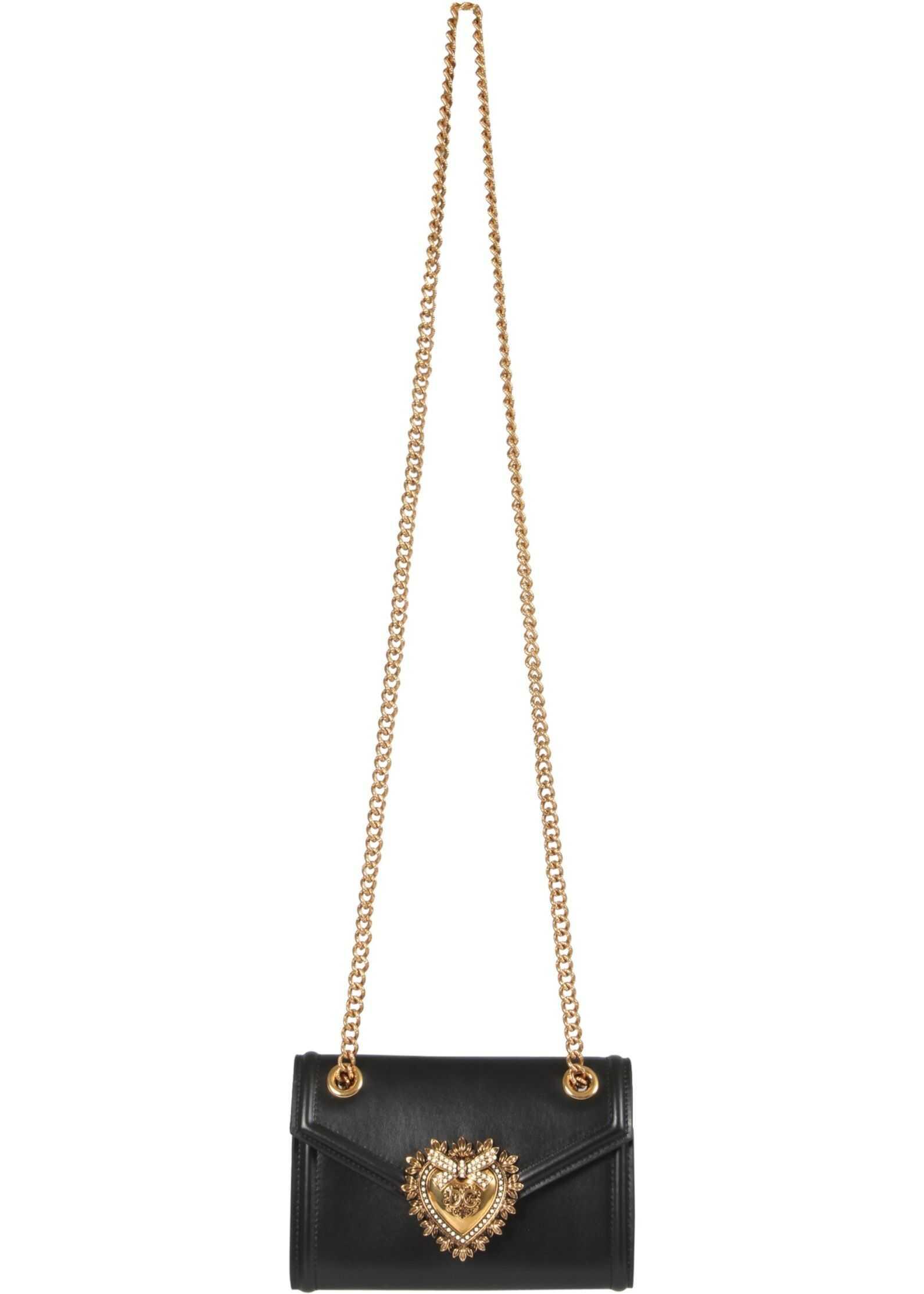 Dolce & Gabbana Mini Devotion Bag BI1168_AV89380999 BLACK imagine b-mall.ro
