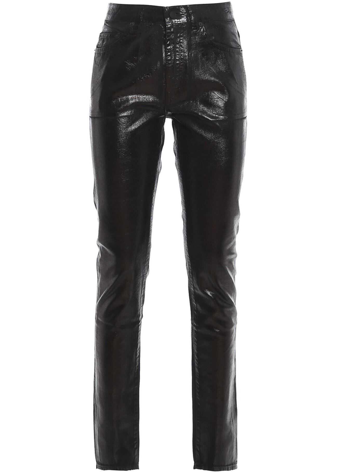 Saint Laurent Five Pocket Trousers In Black* Black