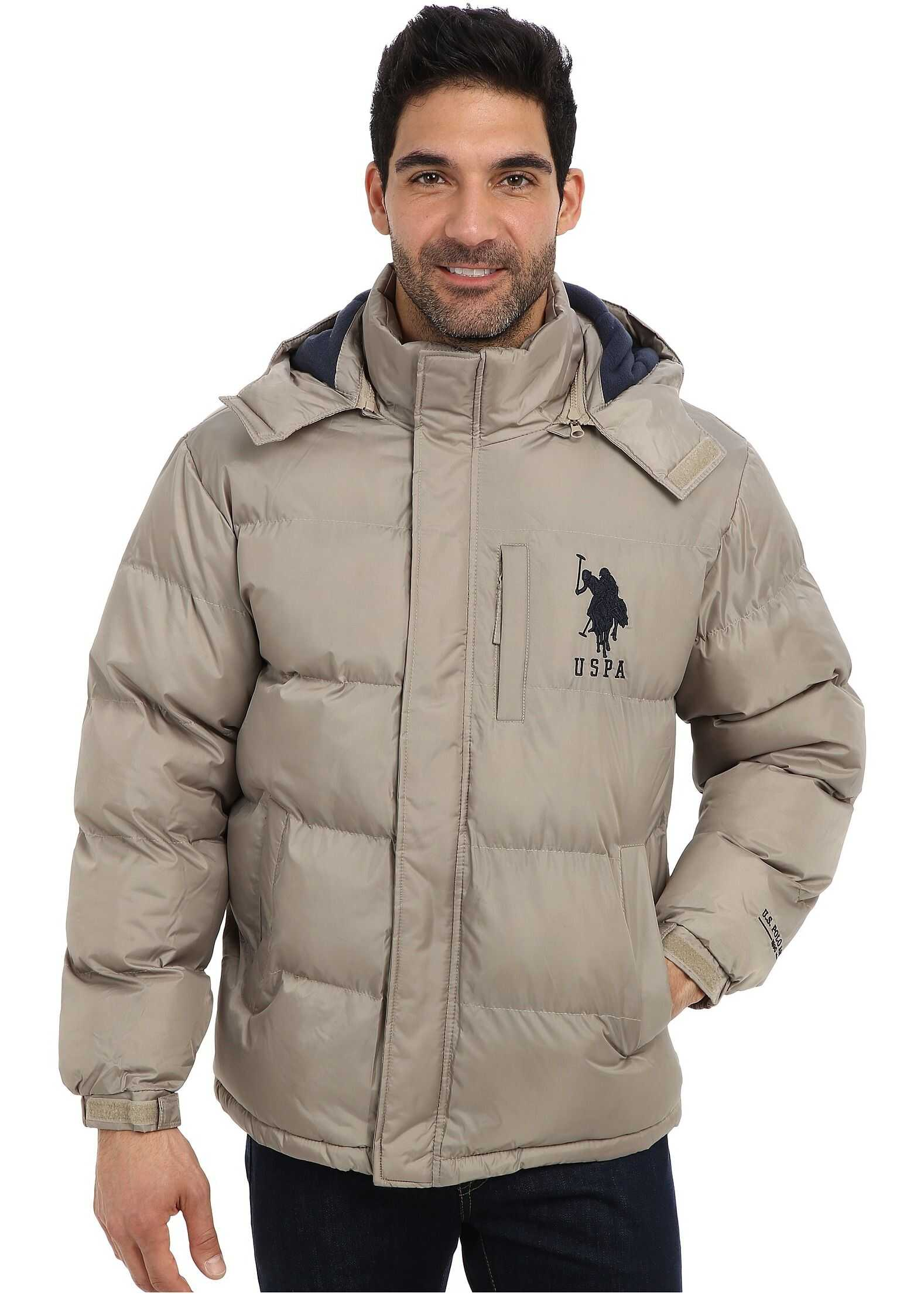 U.S. POLO ASSN. Classic Short Bubble Coat w/ Big Pony Thomston Khaki