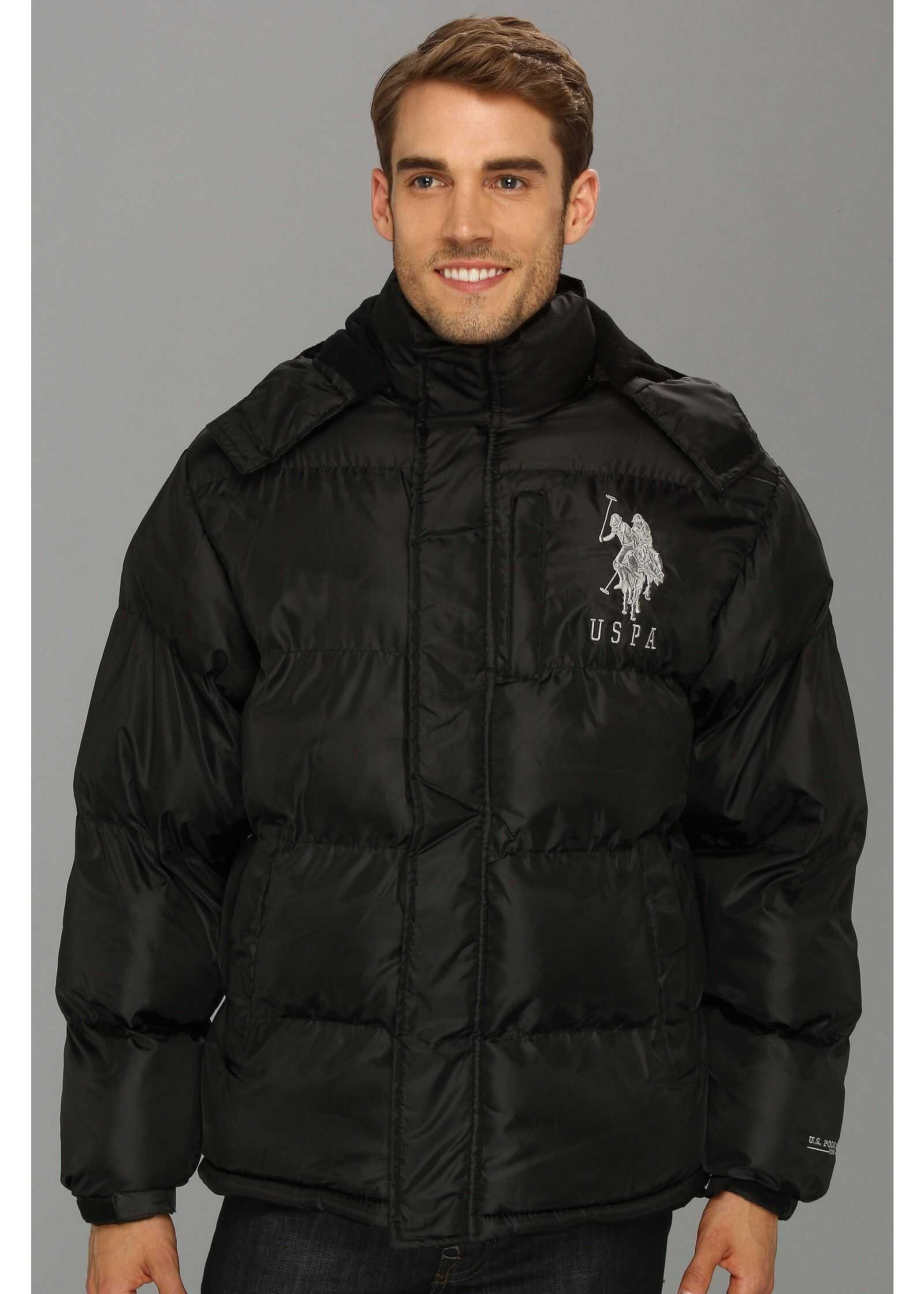 U.S. POLO ASSN. Classic Short Bubble Coat w/ Big Pony Black
