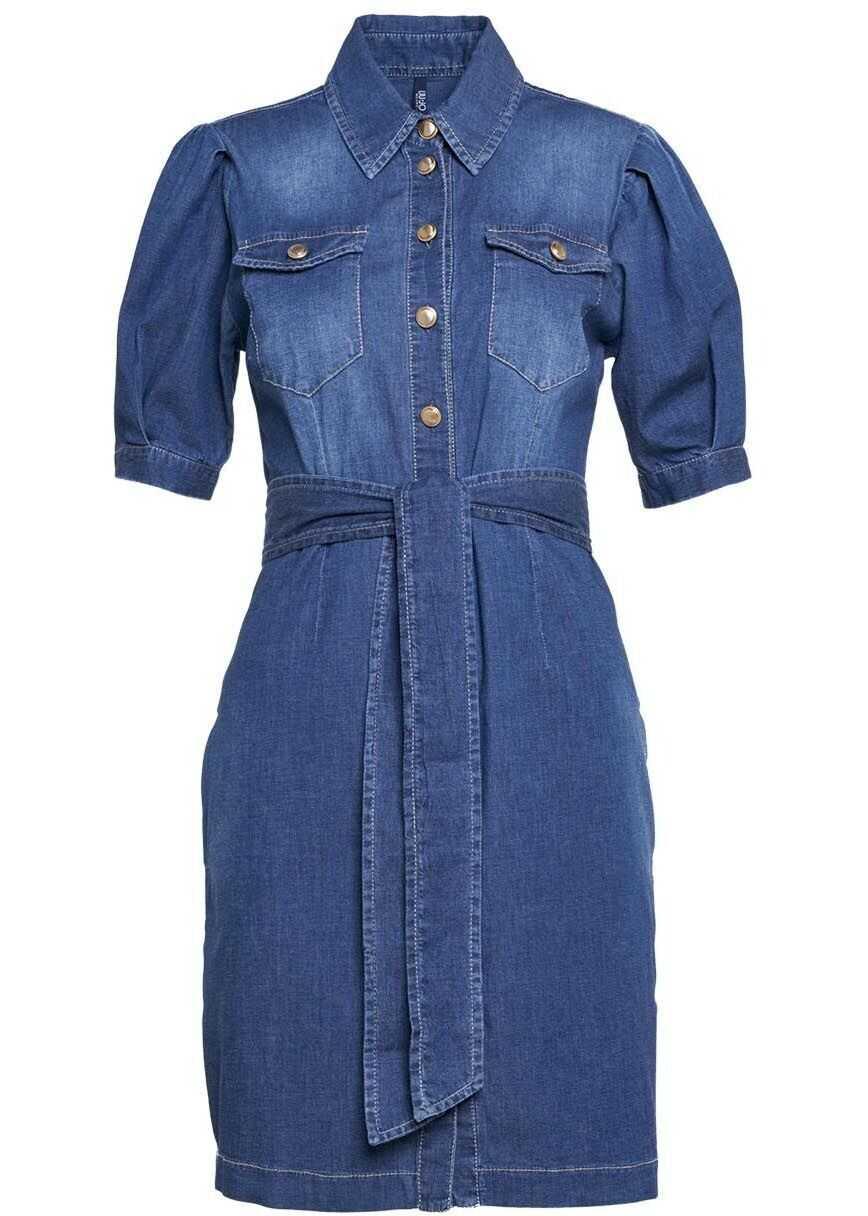 Liu Jo Dress in denim with waist band* Blue