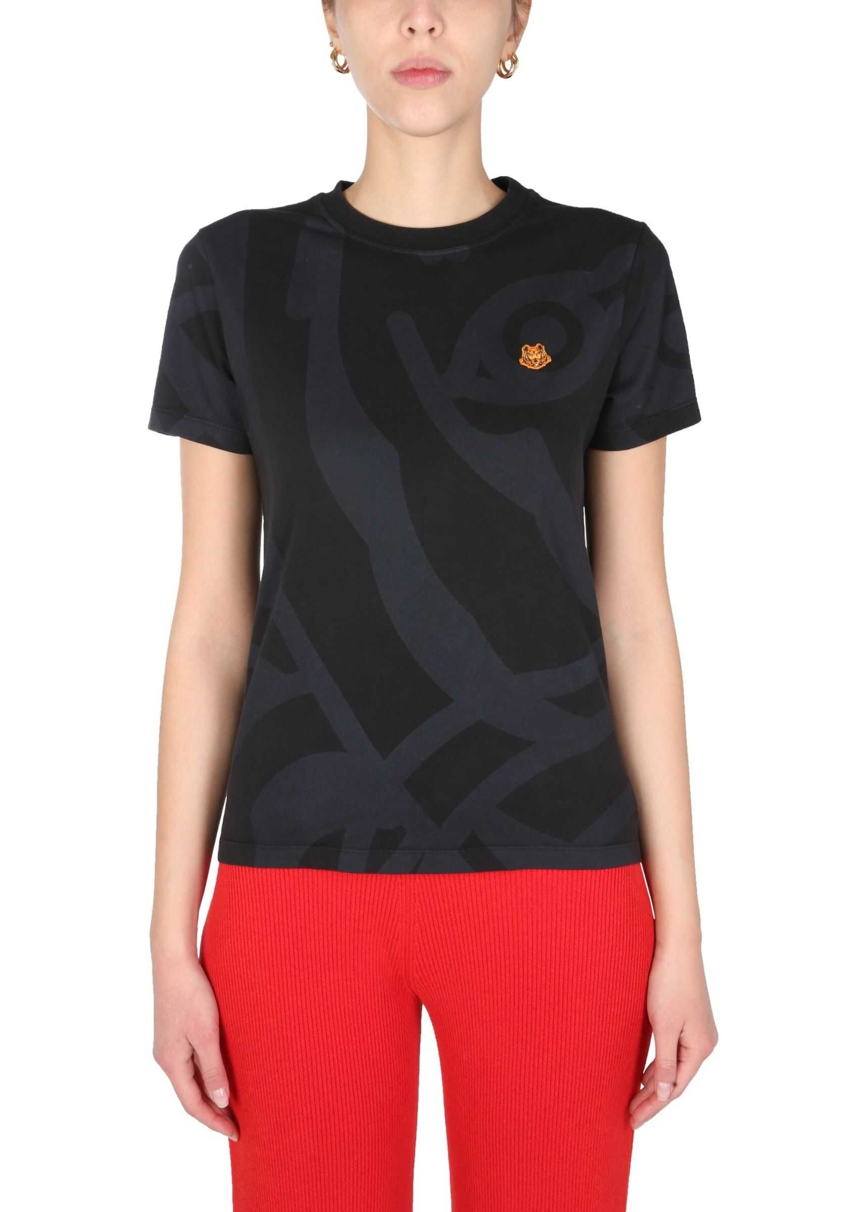 Kenzo T-Shirt With Logo Print* BLACK