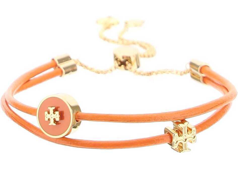 Tory Burch Leather Bracelet With Slider 86248 TORY GOLD MANGO image0