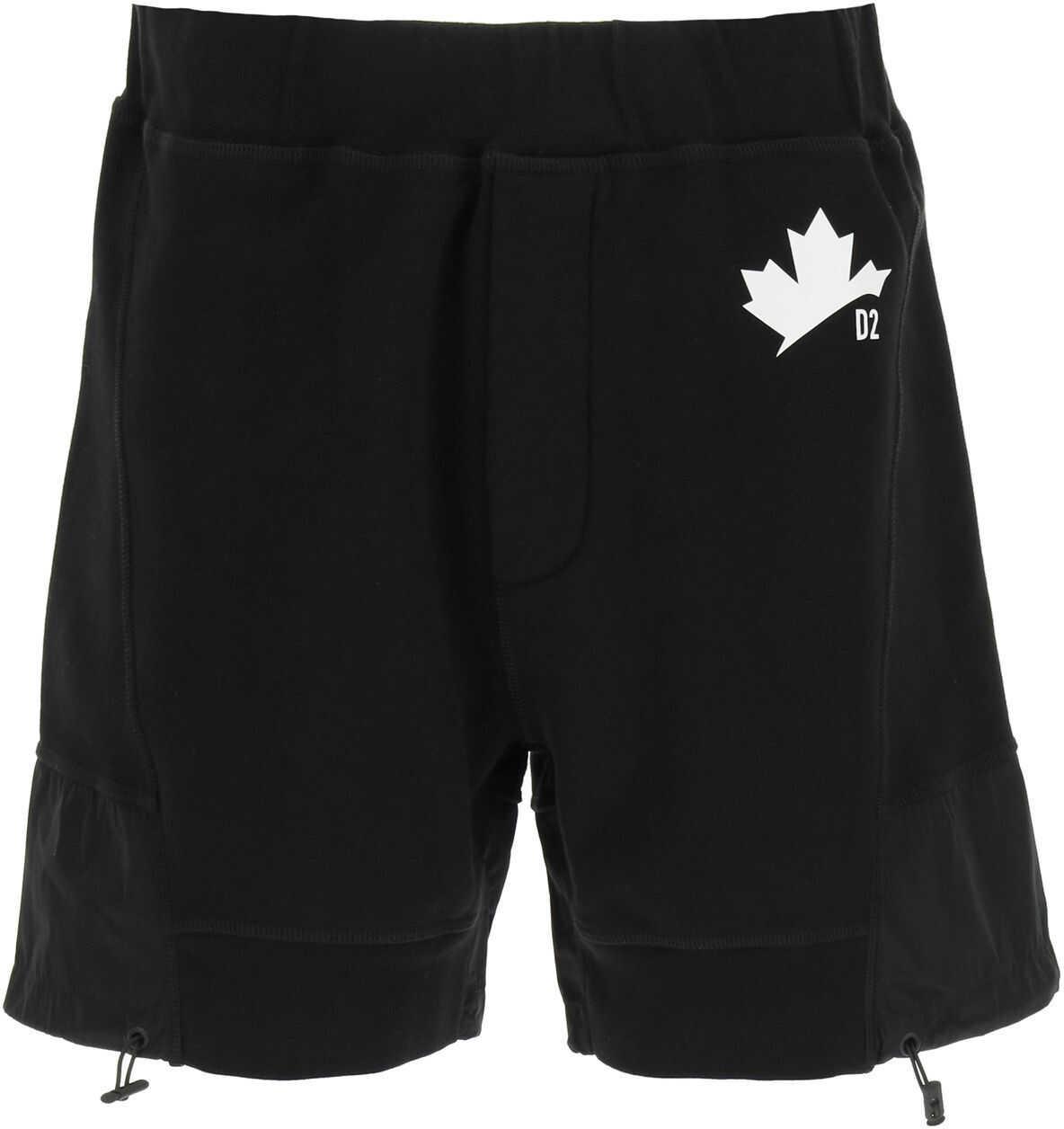 DSQUARED2 Short Sweatpants With Nylon Inserts* BLACK