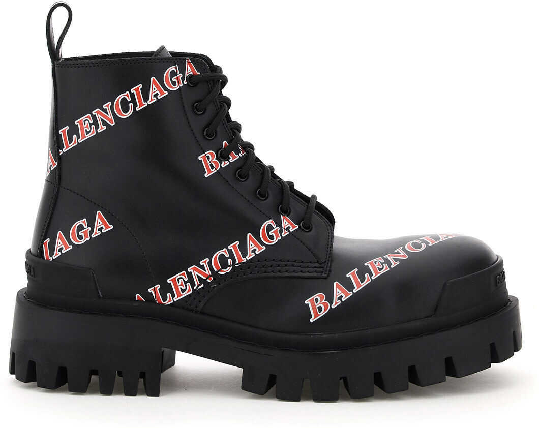 Balenciaga Strike Boots Logo* BLACK RED